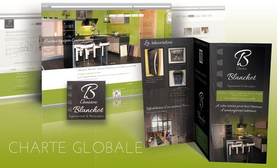 communication global site logo plaquette blanchot ebenisterie mediacom