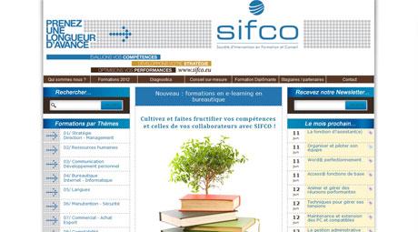 Refonte graphique du site Internet sifco.eu