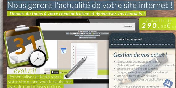 solution prestation gestion actu client site web