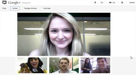 visio conference google plus