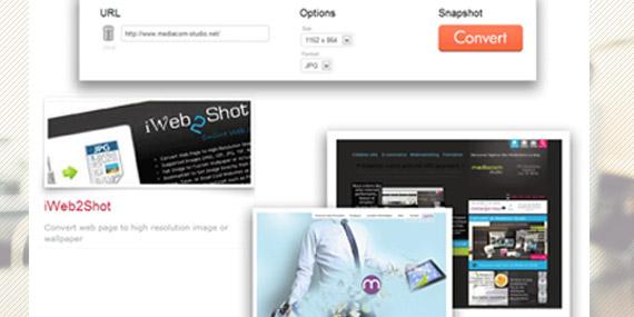 iweb2shot convertir page html en image